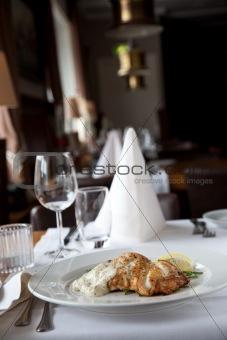 Fish at a restaurant