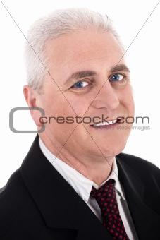 Close up portrait of senior business man