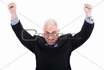 Champion senior business man