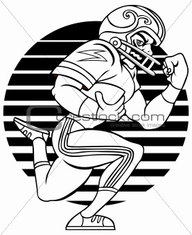 Football Player Line Art