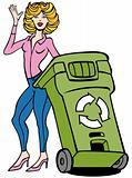 Recycling Bin Woman