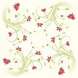 Floral scroll pattern