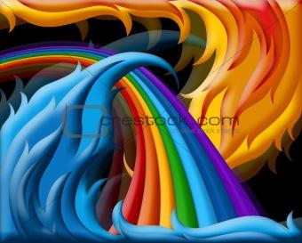 illustration of  rainbow