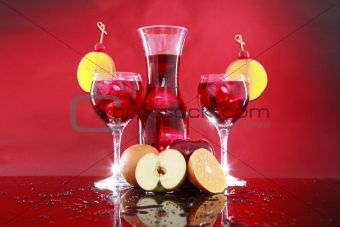 Sangria carafe for two or fruit punch