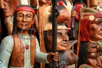 Carved indians