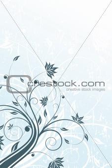Grunge Floral scroll