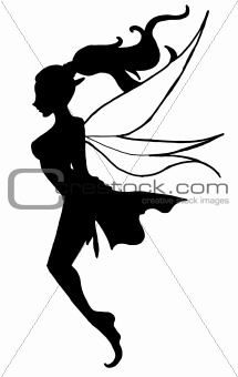 A Silhouette of a Single Fairy