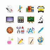 school icon set