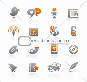 Blog & New Media // Graphite Icons Series