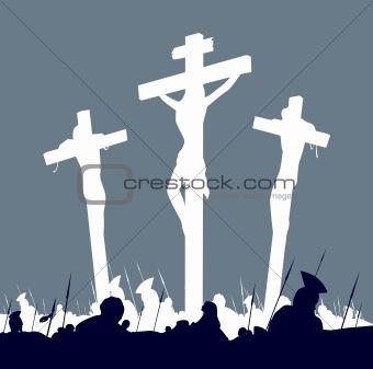 Eastern calvary crucifixion scene
