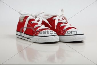 Red Shoe / Sneakers isolated on white