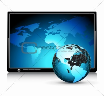 LCD panel with world background