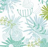 Retro floral pattern background