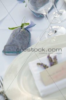Gift on table