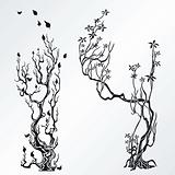 Trees design elements