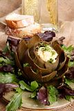 Steamed artichoke hollandaise