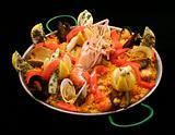 Seafood rice dinner