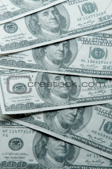 Background of green money.