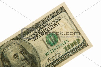 Watermarks on one hundred dollars