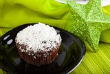 Muffin with coconut decoration