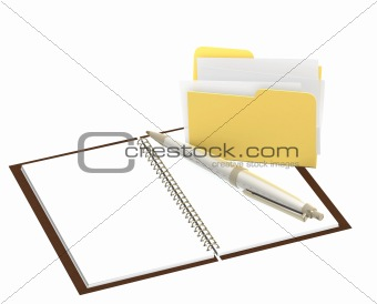Folder and notebook
