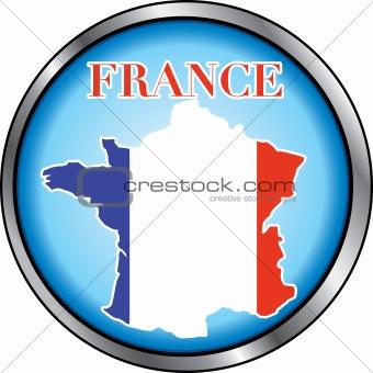 France Round Button