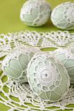 White crochet Easter eggs