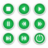 Music green buttons set