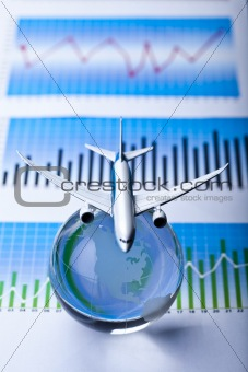 Travel concept, airliner