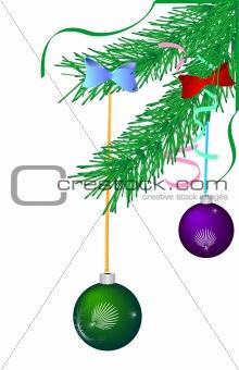 Green Christmas pine