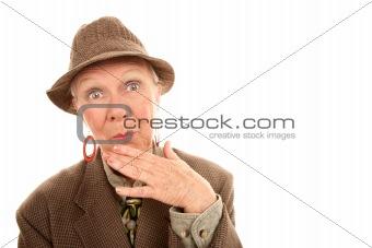 Senior woman in drag