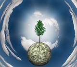 Tree US Currency Sphere