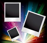 Vector set of blank printed photos