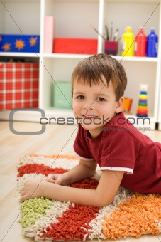 Boy in his room