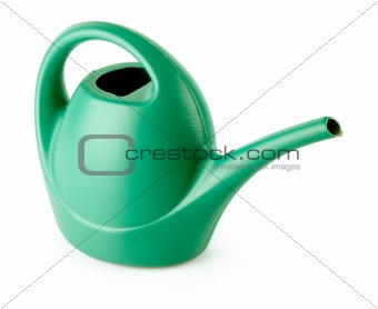 green watering can isolated