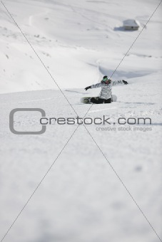 snowboard woman