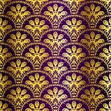 Purple seamless peacock sari pattern