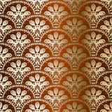 Bronze seamless peacock sari pattern