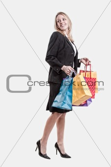 Young attractive caucasian twenties businesswoman