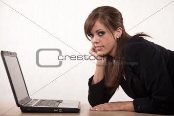 Attractive young twenties caucasian businesswoman