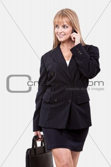 Attractive young twenties caucasian businesswoman