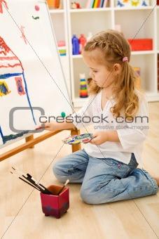 Little artist girl