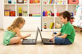 Kids playing computer games