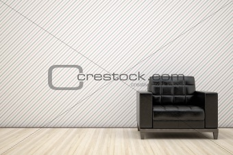 chair in black leather