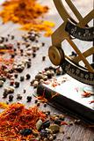 Spices and antique scales