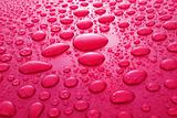Red water drops background