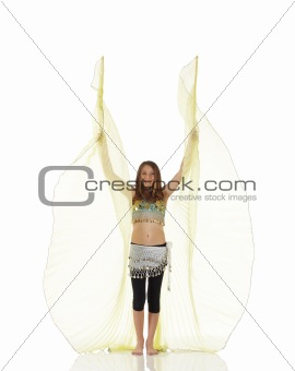 Young belly dancing girl