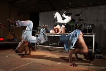 Freestyle hip-hop dancers
