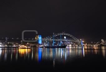 Bridge in Circular Quay in Sydney in the evening