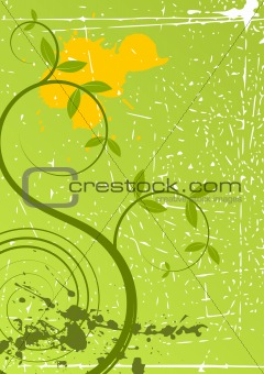 Spring grunge floral background